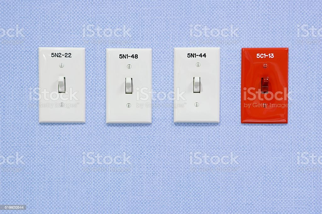 Light switches in a hospital stock photo