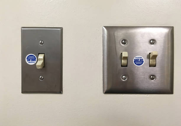 Light Switches stock photo