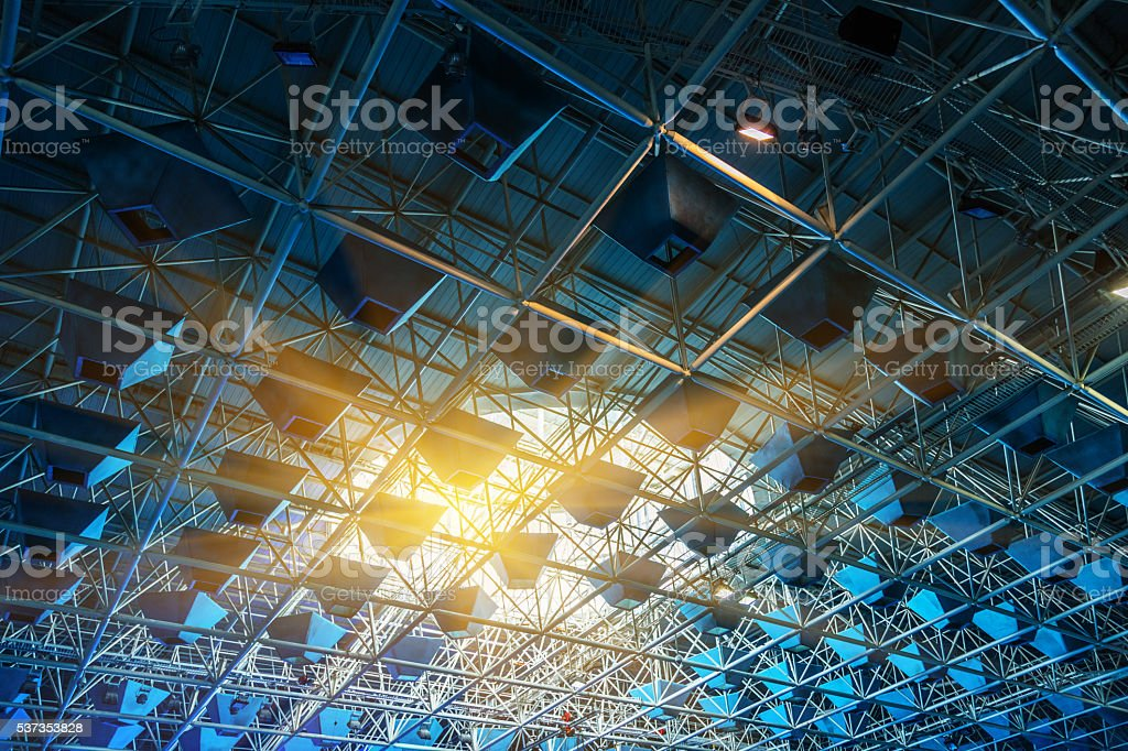light system of modern building stock photo