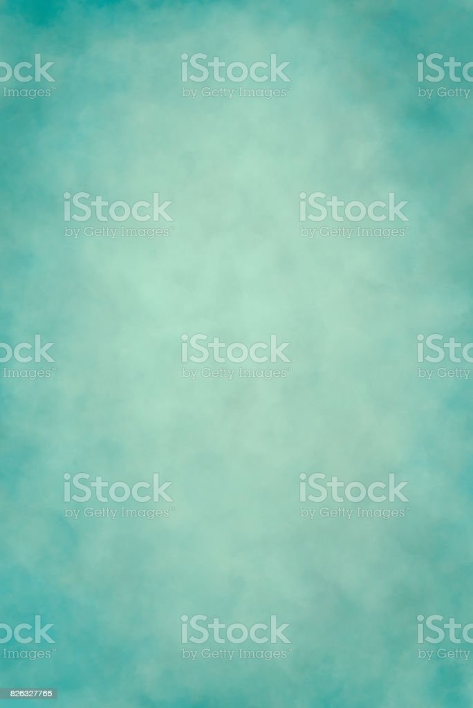 Light teal blue hand painted backdrop stock photo