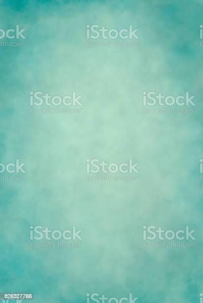 Photo of Light teal blue hand painted backdrop