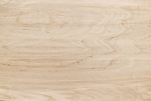 Light wooden table, top view. Wood texture for background