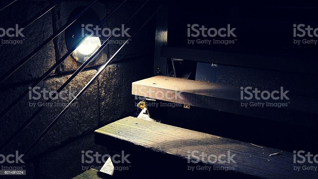 light that illuminates the corners of the stairs Lizenzfreies stock-foto