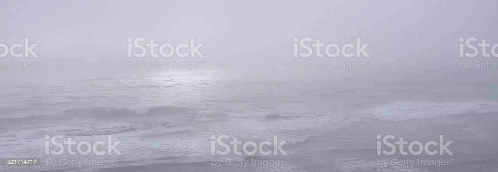 Light Through the Fog onto the Ocean stock photo