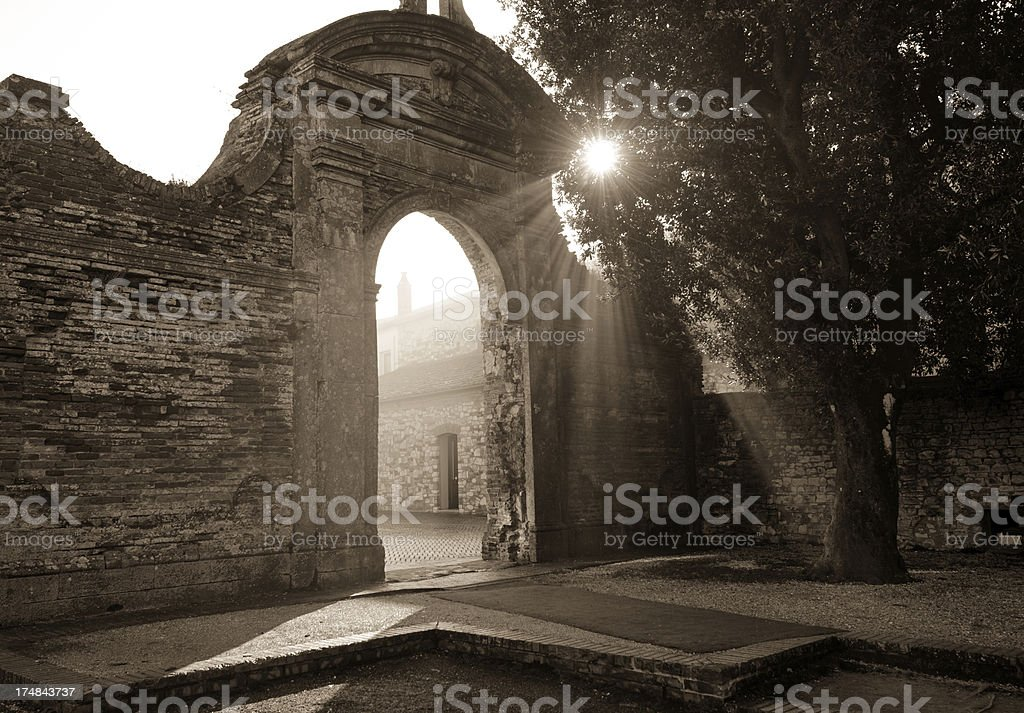 Light through the gate royalty-free stock photo