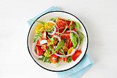 光トマトのサラダ、アルグラ