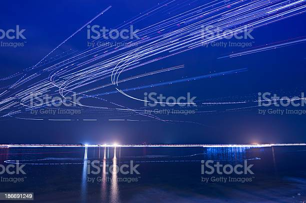 Photo of Light trails of Airplanes
