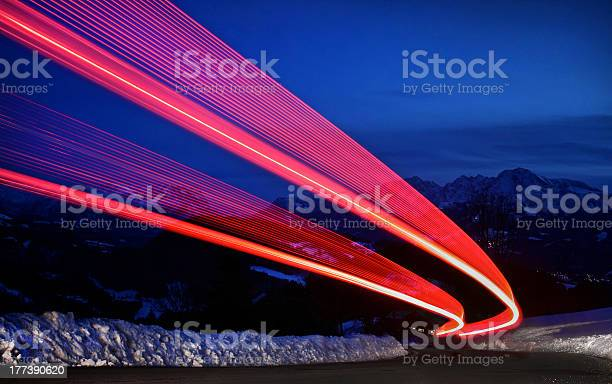 Photo of Light trails on a highway