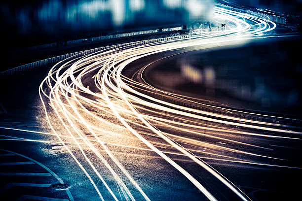 light trails - long exposure stock pictures, royalty-free photos & images