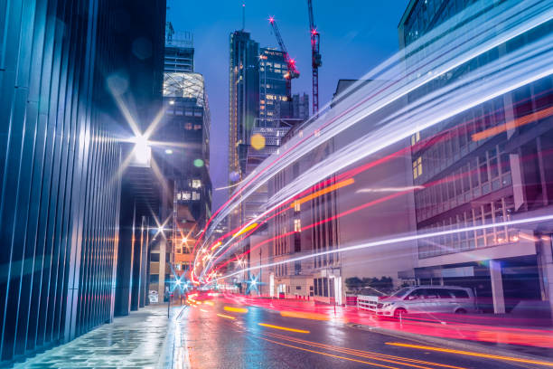 光跡 - 交通量 ストックフォトと画像