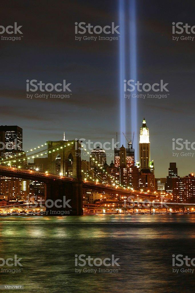 9/11 WTC Light Tribute royalty-free stock photo