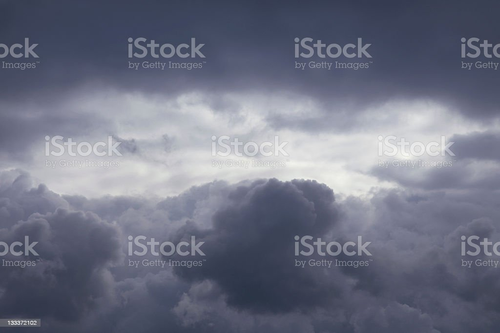 Light trough storm Clouds royalty-free stock photo