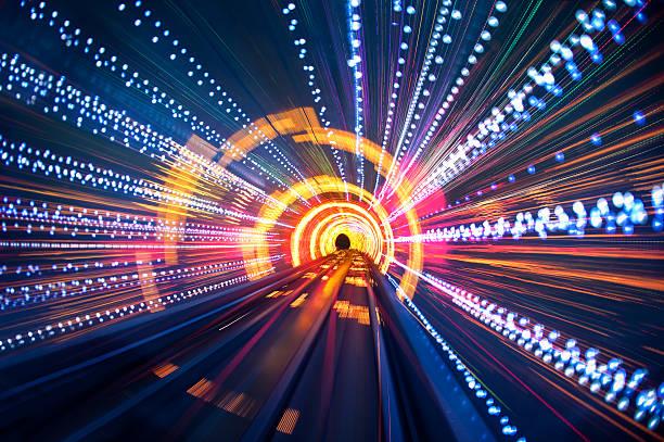leichte tunnel-speed - tunnel stock-fotos und bilder