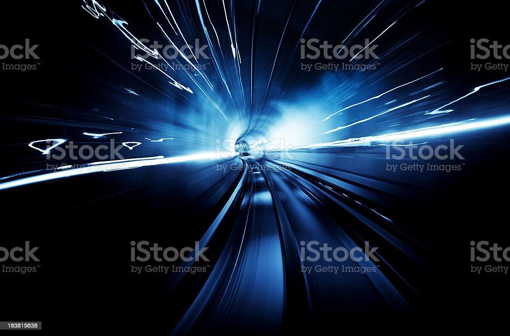 Light Tunnel Speed royalty-free stock photo