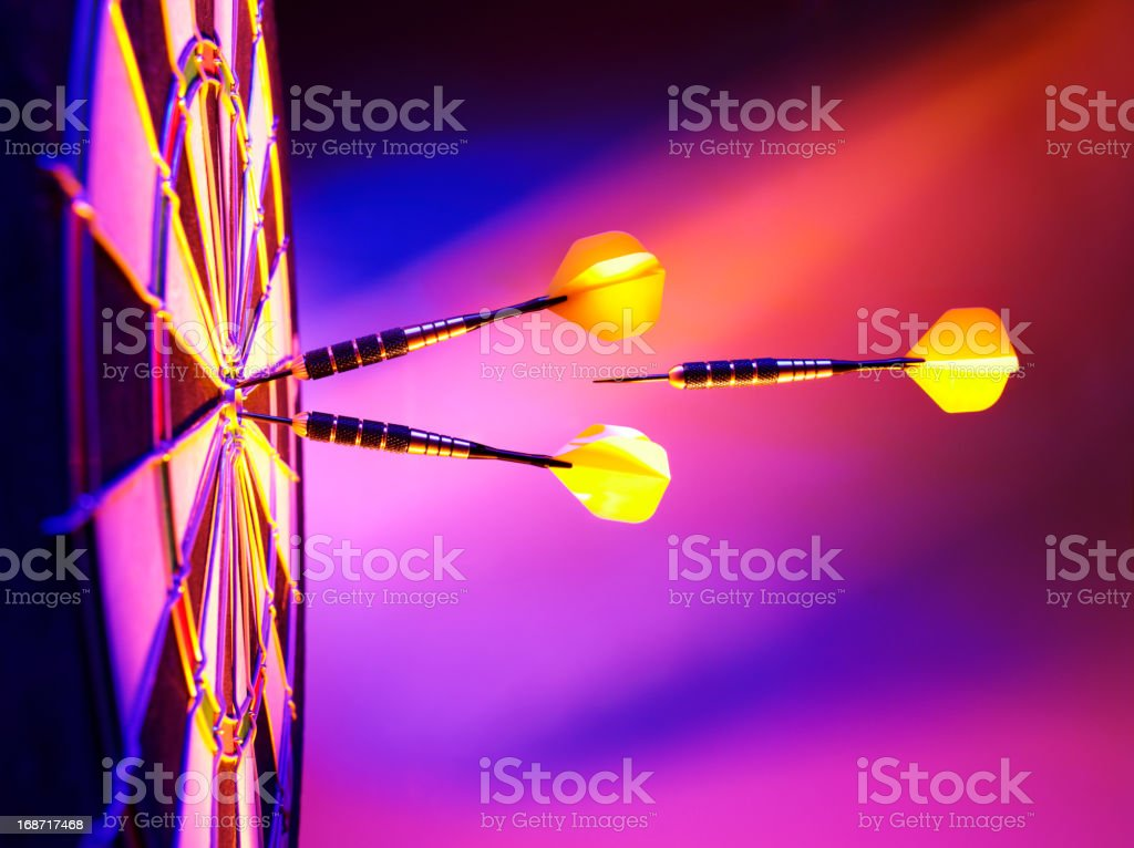 Light up the Target in Darts royalty-free stock photo