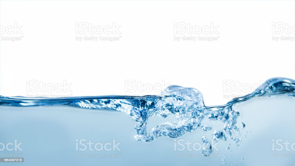 Light water wave with bubbles and foam - Royalty-free Backgrounds Stock Photo