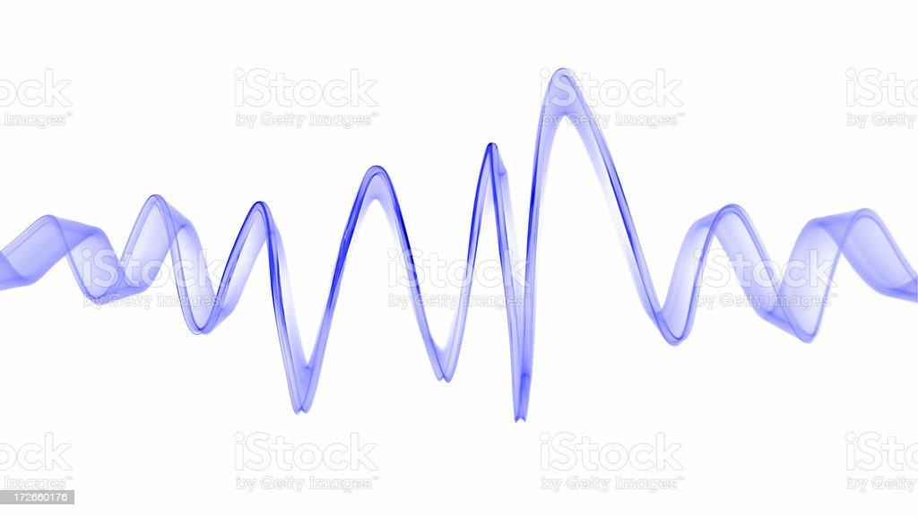 Light wave capture stock photo