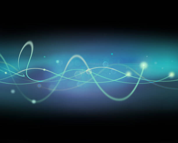 Light Wave with blurred spot lights. stock photo