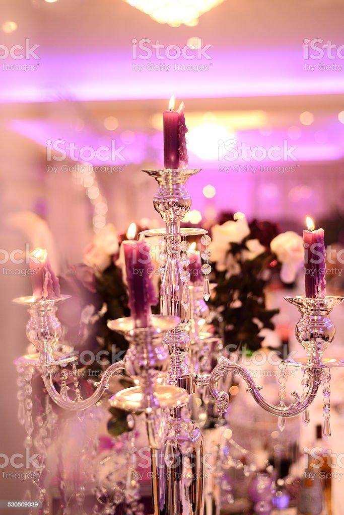 Light Wedding Candle stock photo