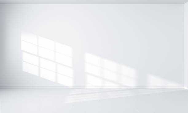 light white room interior - wall foto e immagini stock