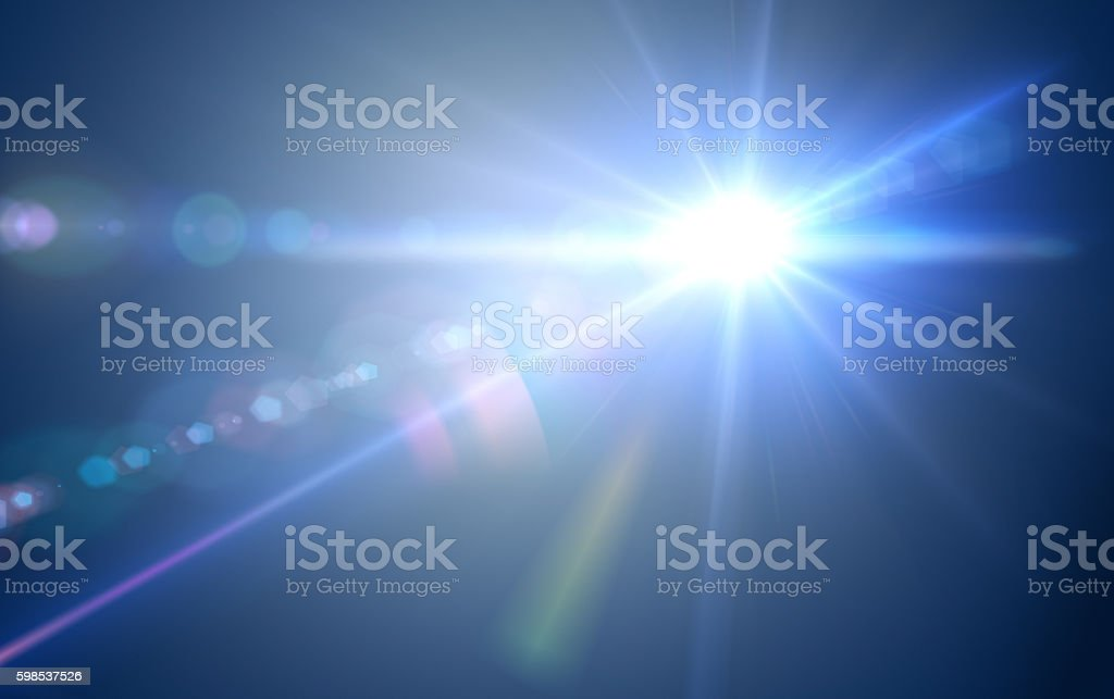 Light with Lens Flare stock photo