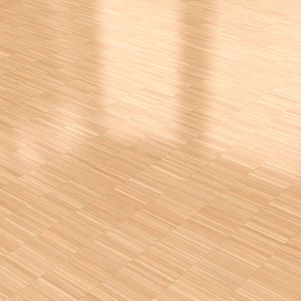 Royalty Free Image Of Wooden Parquet Flooring Squares Varnished Wood