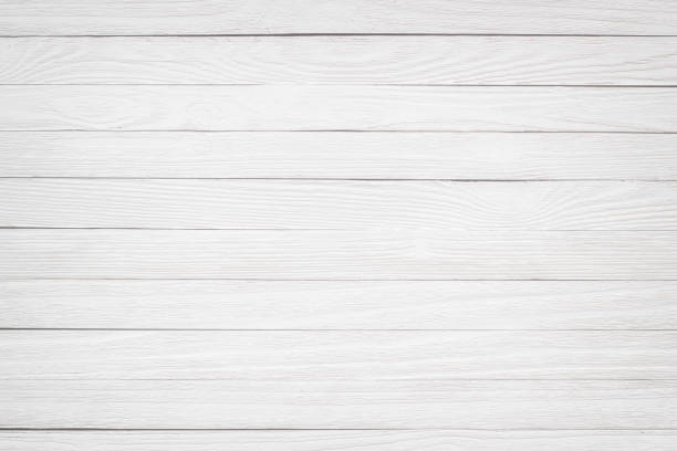 Light wood texture. Painted wooden table white - foto stock