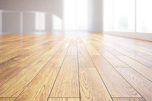 Light wooden floor closeup stock photo