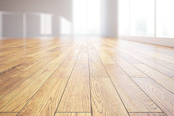 Light wooden floor closeup - foto de stock