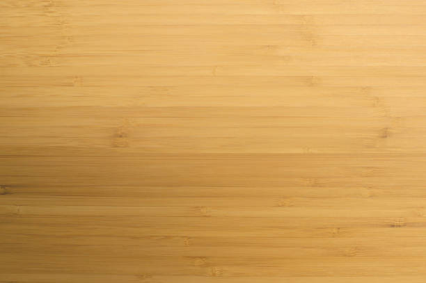 light yellow natural wooden bamboo texture. natural background. - top view, wood table, empty imagens e fotografias de stock