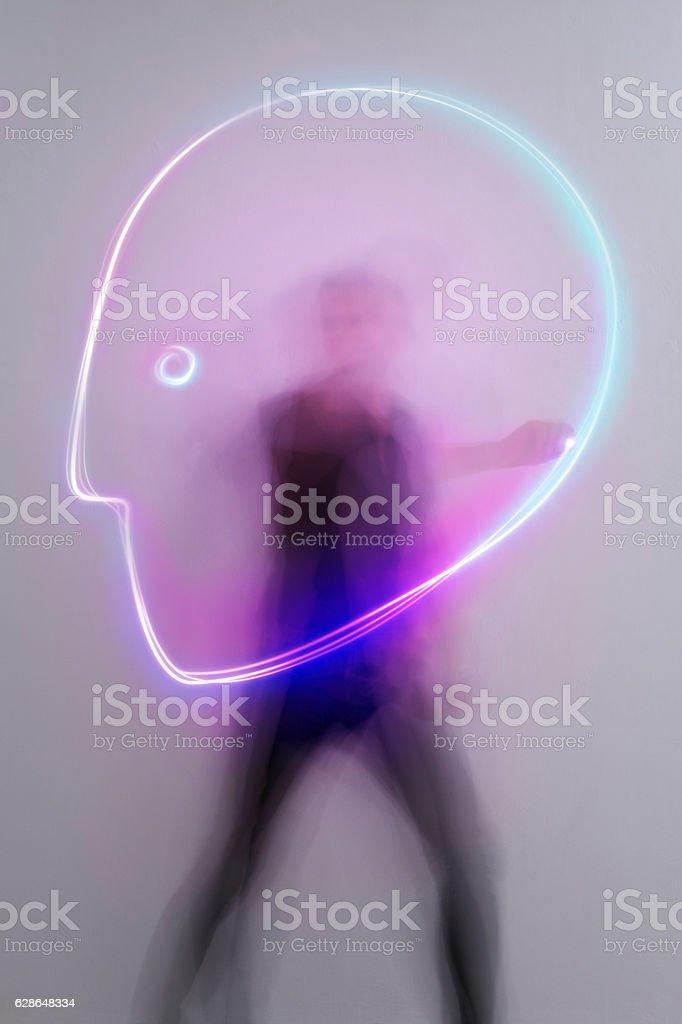light_trail_symbol_head stock photo