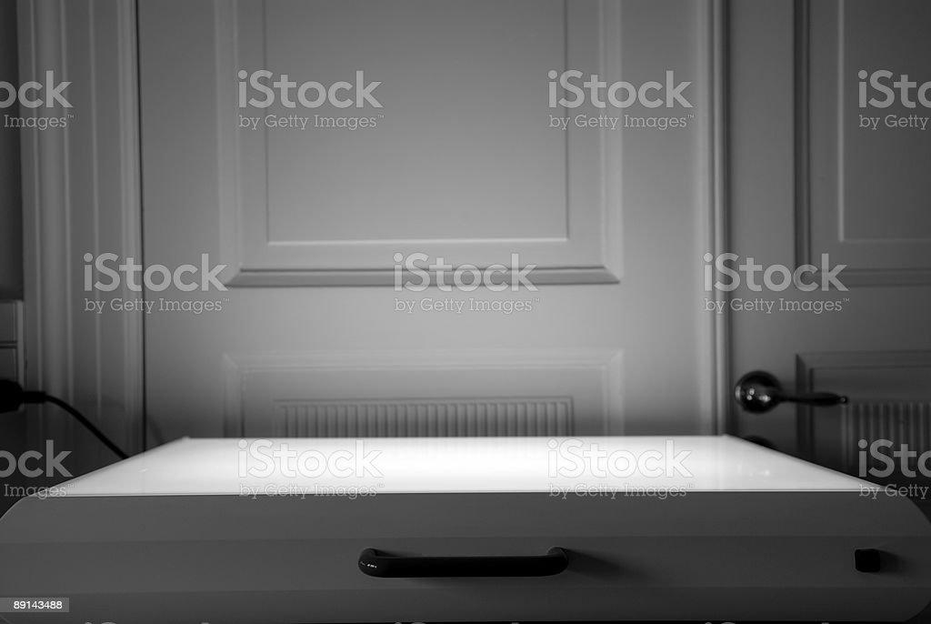 Lightbox lit royalty-free stock photo