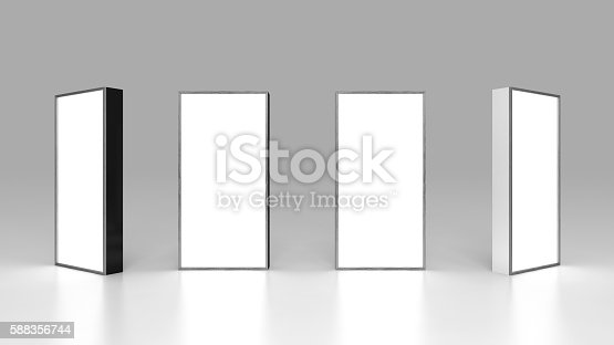 istock Lightbox On Black Background 3D rendering 588356744