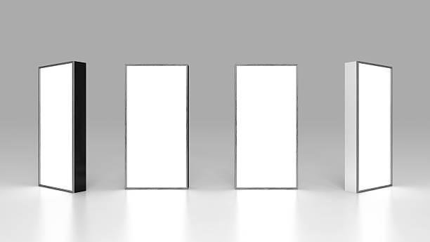 Lightbox On Black Background 3D rendering stock photo