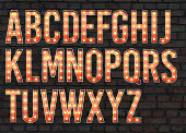 lightbulb alphabet