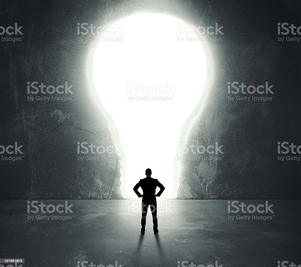 Lightbulb door stock photo