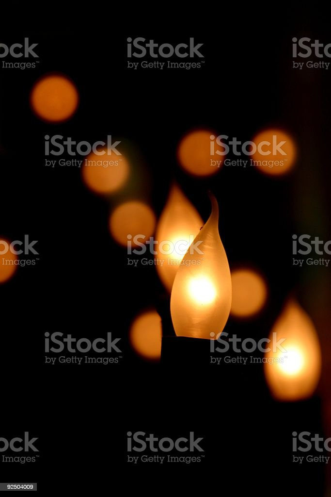 Lightbulb flame royalty-free stock photo