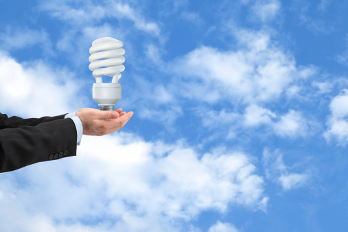 Lightbulb In Hands Stock Photo - Download Image Now