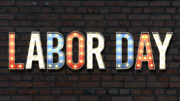 lightbulb labor day stock photo