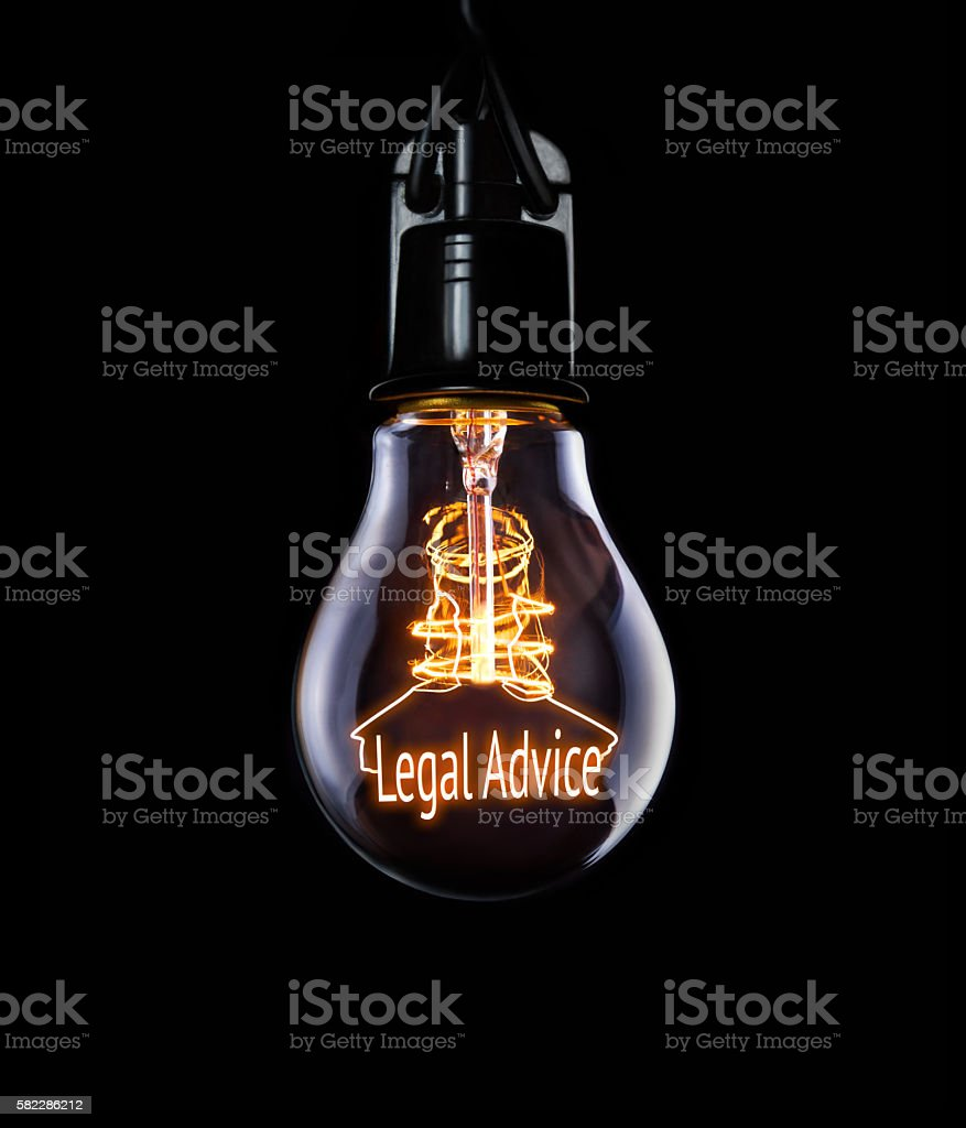 Lightbulb Legal Advice Concept - foto de acervo