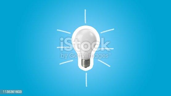 845301446 istock photo Lightbulb on blue background.Ideas creativity 1135361603