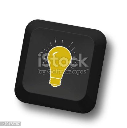 637573406istockphoto Lightbulb on keypad 470172757
