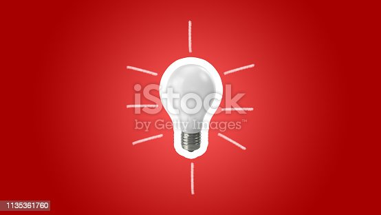 845301446 istock photo Lightbulb on red background.Ideas creativity 1135361760