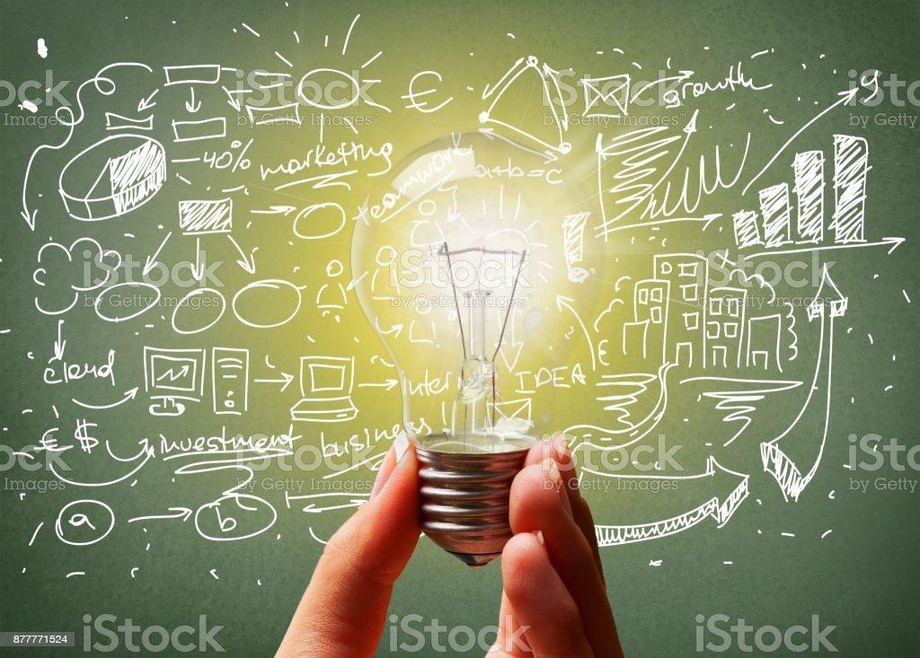 Lightbulb. stock photo