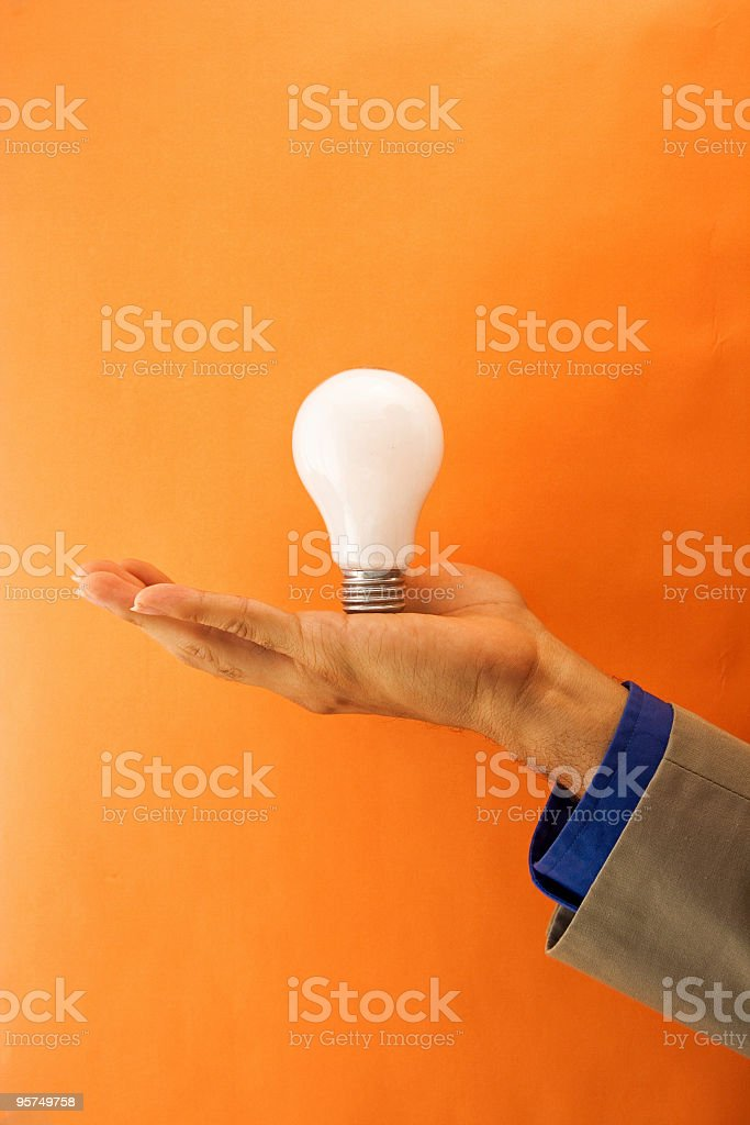 Lightbulb royalty-free stock photo