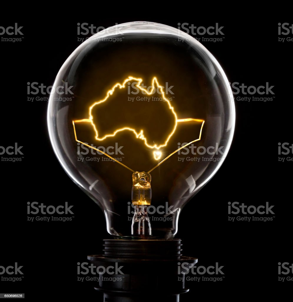 Awe Inspiring Lightbulb With A Glowing Wire In The Shape Of Australia Stock Photo Wiring 101 Orsalhahutechinfo