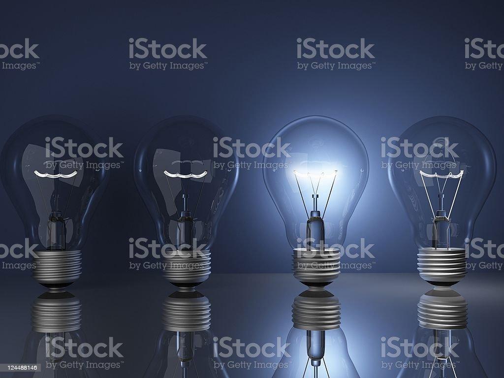 Lightbulbs royalty-free stock photo