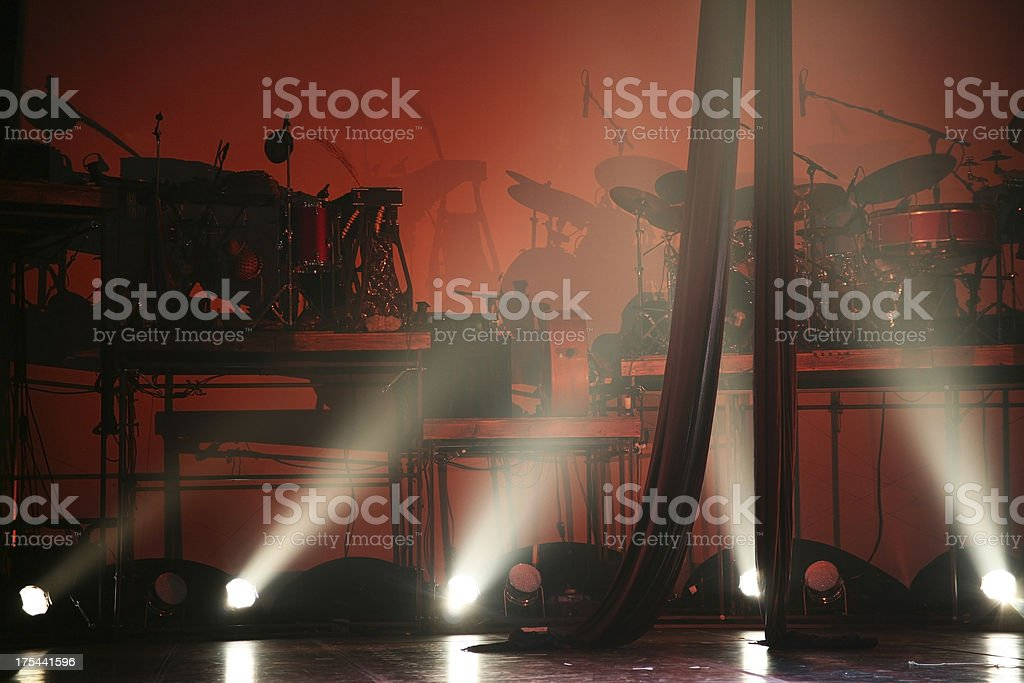 Lighted Band Stage stock photo