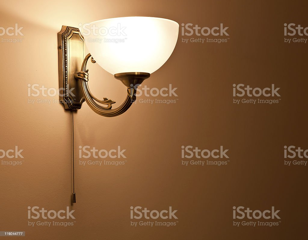 Lighted classic sconce stock photo