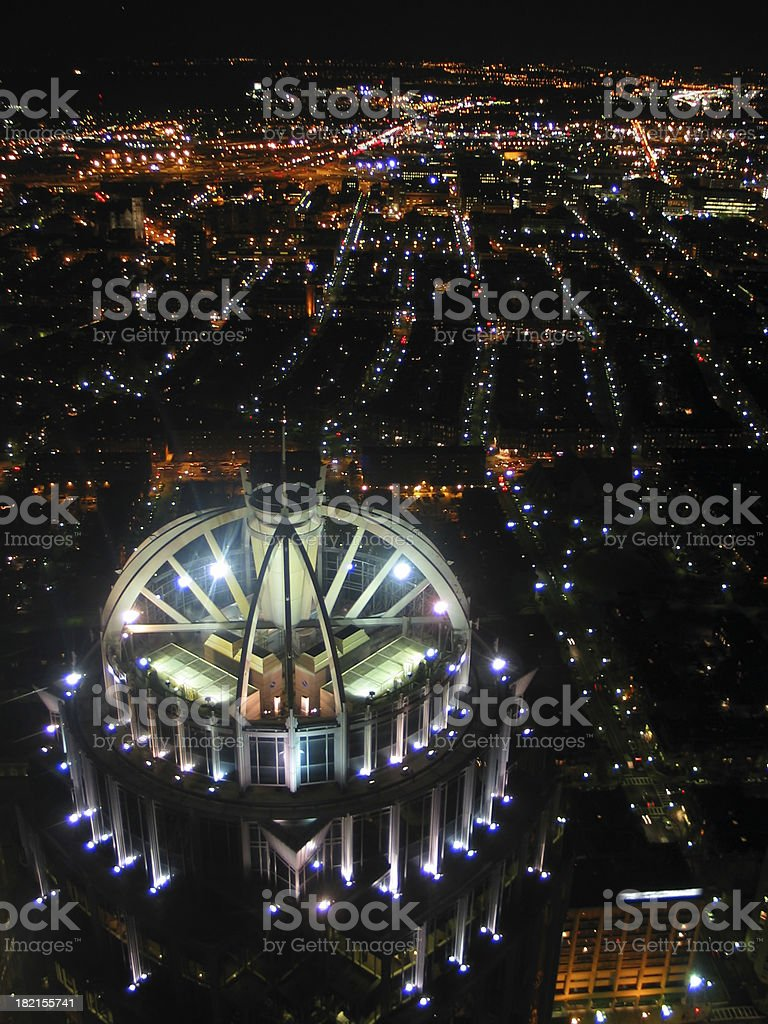 Lighted Dome at Night stock photo
